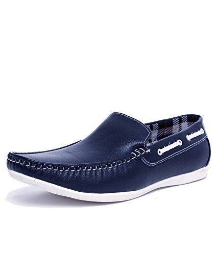 T-Rock-Mens-stylish-funky-look-Synthetic-Leather-Blue-Loafers-Moccasins