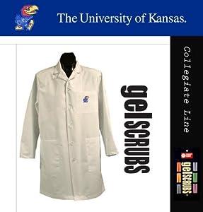 Kansas Jayhawks Long Lab Coat from GelScrubs by Gelscrubs