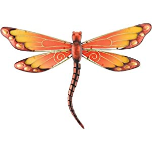 Dragonfly Wall D Cor Orange Home Decor