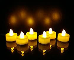 WhitePavo Flickering LED TeaLight Candles - Yellow Flame
