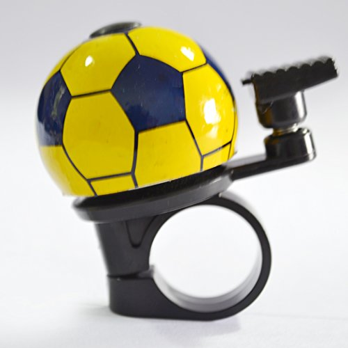 Soccer Bike Bell Lovely Look Clear Sound Ding-dong Bell Soccer Bike Bell Lovely Look Clear Sound Ding-dong Bell (Yellow + Blue) - 1