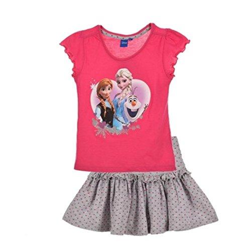 Conjunto-de-falda-camiseta-diseo-de-Frozen-color-rosa-4-6-8-5-aos-rosa-4-aos