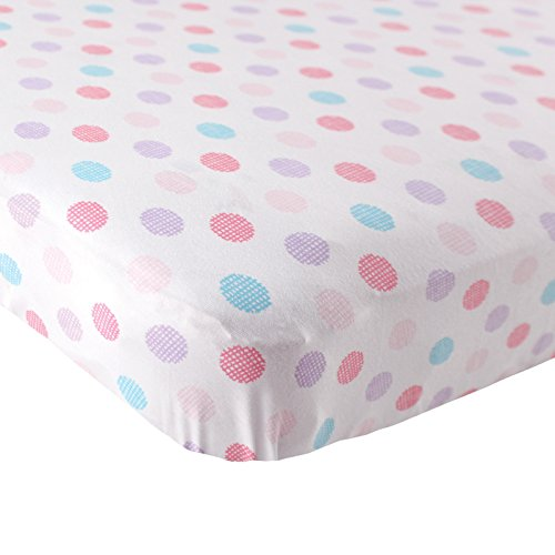 Learn More About Luvable Friends Fitted Knit Cotton Crib Sheet Crosshatch Dot, Pink