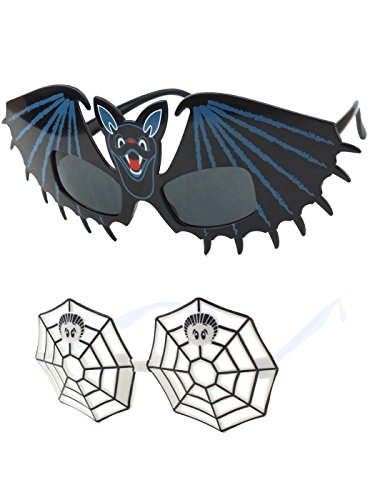 Halloween & Party Favor Costume Accessory Holiday Sunglasses / Bats and Spider Web Sunglasses