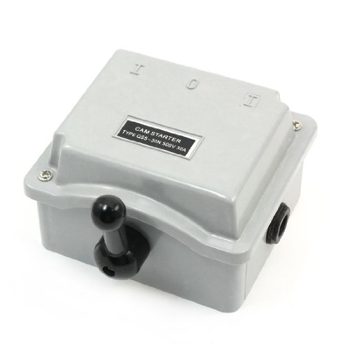 Gray Plastic Housing Changeover Switch Cam Starter Ac500V 30A
