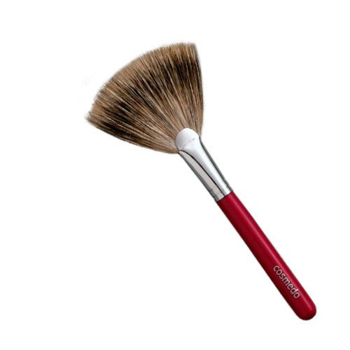 匠の化粧筆コスメ堂 熊野筆メイクブラシ ショートタイプ 扇形フィニッシングブラシ