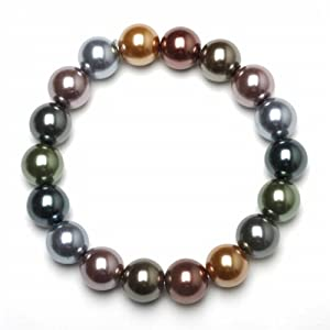 Click to buy Multi-Colored Freshwater Pearl Bracelet from Amazon!