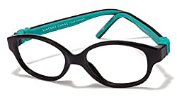 Vincent Chase Flex VC 8026 Black Green C5 Kids' Eyeglasses (Kids 1-5 yrs)