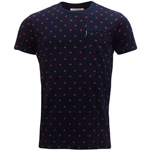 Ben Sherman -  T-shirt - Basic - Maniche corte  - Uomo blu navy XL