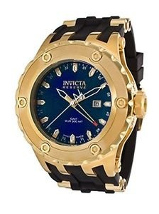 Invicta 80592 Men's Subaqua Swiss Reserve Blue Dial Black Polyurethane Watch