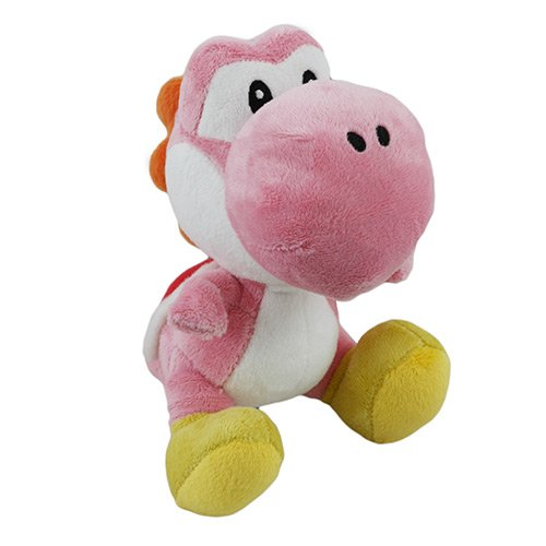 "Little Buddy Toys Nintendo Official Super Mario Yoshi Plush, 6"", Pink"
