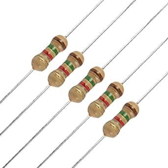 50 x 1/4W 250V 1.5K ohm 1K5 Axial Carbon Film Resistors