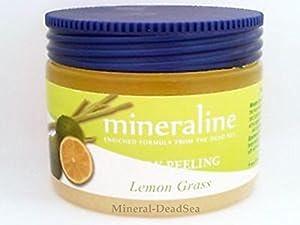 Mineraline - Dead Sea, Body Peeling Scrub - LemonGrass, 500 gr / 17.6 oz