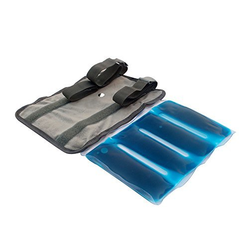 """Reusable Hot-Cold Gel Pack - Large 11""""X7"""" - With Super Quality, Smart and Soft Fabric Cover and Additional Hold-on Straps"""