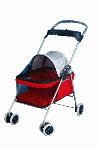 Best Pet Swanky Pet Stroller, Red