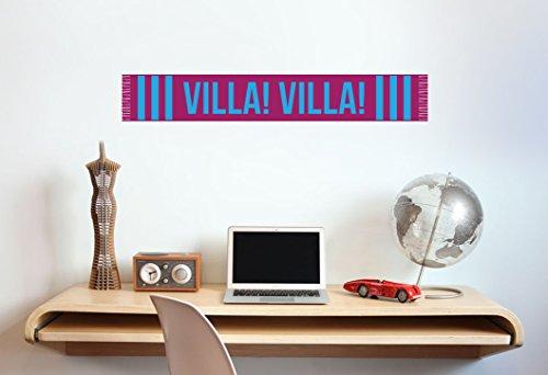 Aston Villa-Sciarpa-Adesivo decalcomania da parete in vinile, _Football Poster, medium