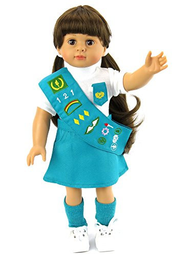 18 Inch Doll Clothes - Junior Girl Scout Outfit | Fits 18