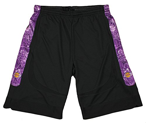 Los Angeles Lakers NBA Big and Tall Men Blueprint Shorts, Bl
