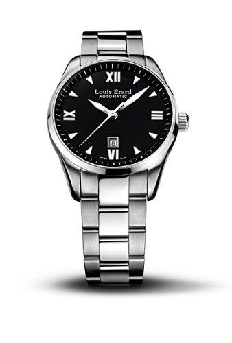 Louis Erard 20100AA02.BMA17 - Reloj analógico automático para mujer con correa de acero inoxidable, color plateado
