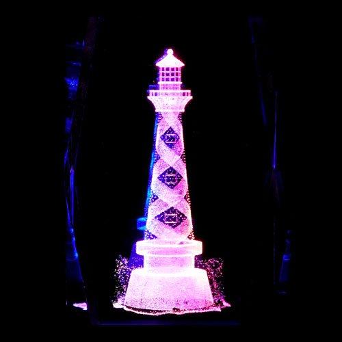 Lighthouse S1 3D Laser Etched Crystal + Display Light Base S