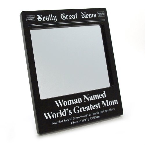 Enesco Really Great News - Greatest Mom Mirror
