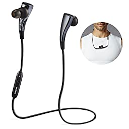 ANKOVO Bluetooth Headphones Wireless Headphones Earphones Headset Sweatproof Running Gym Exercise Stereo Earphones Noise Cancelling Earbuds Cordless With Magnetic Circle Design