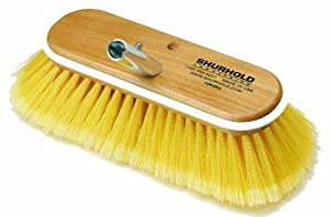 "Shurhold 980 10"" Deck Brush with Soft Yellow Polystyrene Bristles"