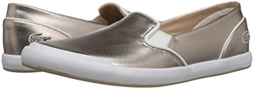 Lacoste Women's Lancelle Slip on 316 2 Spw Gry Fashion Sneaker, Grey, 7 M US
