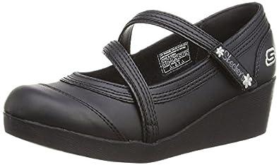 Skechers Girls Best Girl Shoes, Black, 1.5 UK
