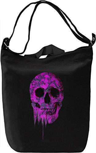 Fine Lace Skull Borsa Giornaliera Canvas Canvas Day Bag| 100% Premium Cotton Canvas| DTG Printing|