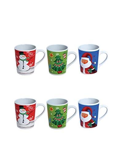 ZZZ_Merry Christmas Becher 6er Set mehrfarbig