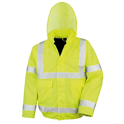 Result Core High-Viz Winter Blouson Jacket (Waterproof & Windproof) (2XL) (HI-Viz Yellow)