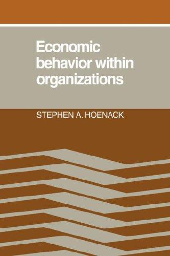 Economic Behaviour within Organizations: 0