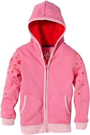 TOM TAILOR Kids Pull Manches longues Fille - Rose foncé - Pink (5428  soft orchid pink) - FR : 6 ans (Taille fabricant : 116/122)