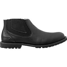 Bogs Men\'s Johnny Waterproof Chelsea Boot, Black, 7 M US