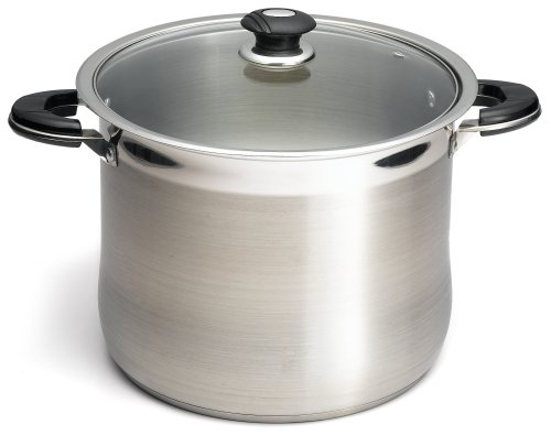 Prime Pacific 18/10 Stainless Steel 20 Quart Stock Pot With Glass Lid
