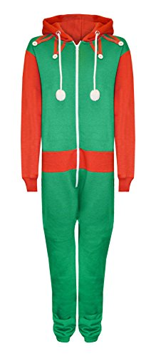 Novelty-Unisex-Mens-Ladies-Elm-Santa-All-in-One-Christmas-Onesie-Costume-Jumpsuit