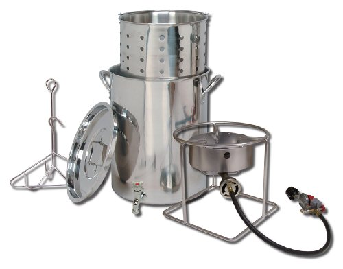 King Kooker  SS1267SBSP  Stainless Steel Cooker, Pot and Basket System (Turkey Fryers Stainless Steel compare prices)