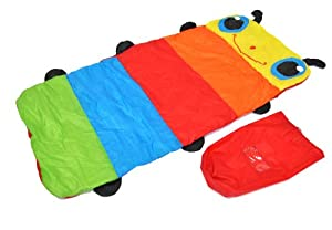 Cozy, the Colorful Caterpillar Children Sleeping Bag