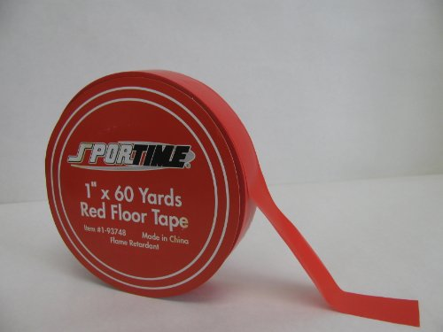 School Specialty Floor Marking Tape - 1 inch x 60 yards - Red