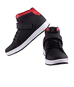 Black Money Essence Red Black Velcro Casual Shoe