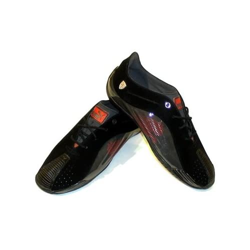 SF Shoes - Black / Raven Black / Rosso Corsa (8): Driving Shoes: Shoes