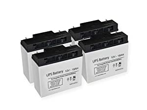 APC RBC 55 Replacement UPS Batteries - Set of 4