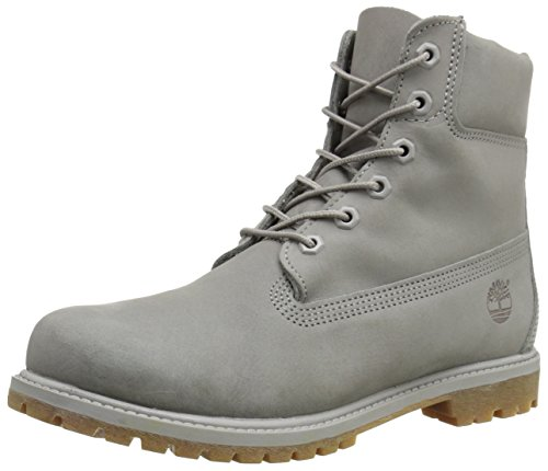 Women's 6 Inch Premium Boot, Grey Nubuck Mono, 5 M US