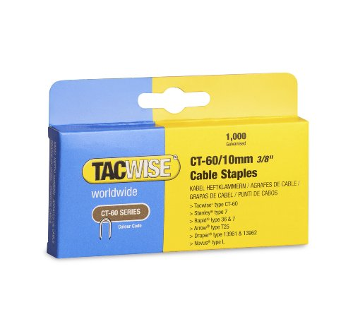 Tacwise CT-60/10mm Cable Tacker Staples (Box of 1000 )