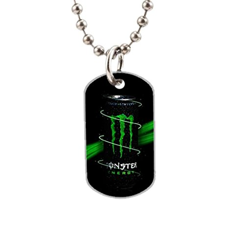 TimMaMa Design Logo Monster Energy Premium Quality Unique Dog Tag Cat Tag Key Chain Necklace The Perfect gift (Monster Energy Necklace compare prices)