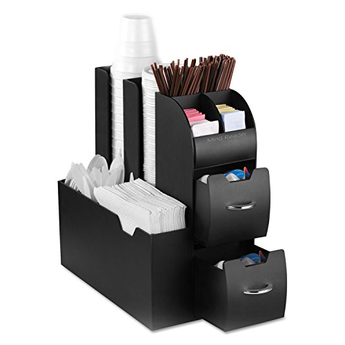 Mind Reader Coffee Condiment and Accessories Caddy Organizer, Black (Tabletop Supply Caddy compare prices)