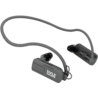 Pyle PSW Waterproof Neckband MP3 Player and Headphones for Swimming, Water Sports