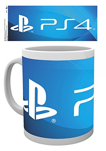Set: Playstation, Ps4 Logo Tazza Da Caffè Mug (9x8 cm) E 1 Sticker Sorpresa 1art1®