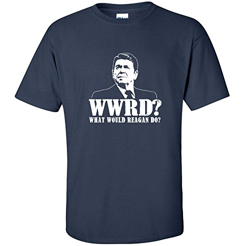 What Would Ronald Reagan Do Funny Gop Rupublican Tea Party Youth T-Shirt Navy Xl